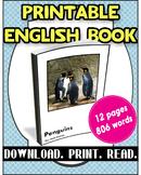 [FREE] Grade 7-8 Printable English Book Penguins | Reading