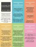 *FREE* HAMLET ACTIVITY/PROJECT MENU