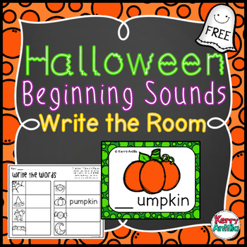 *FREE* Halloween Beginning Sounds Write the Room