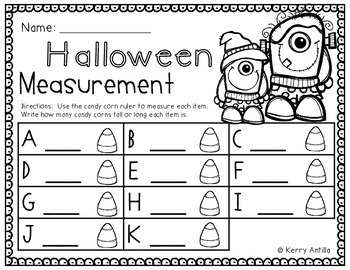 *FREE* Halloween Measuring Math Center