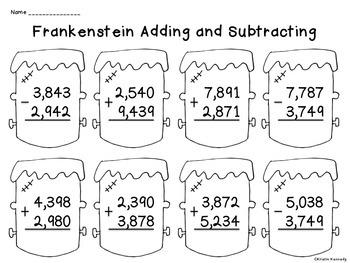 FREE Halloween Math Worksheets
