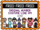 *FREE* Halloween: Ordinal Number Costume Line Up
