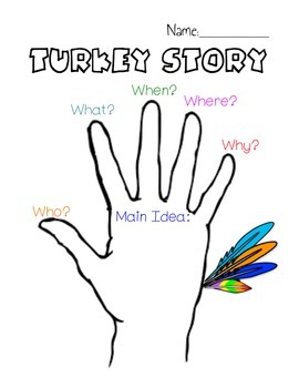 Thanksgiving iPad Hand Turkey Activity