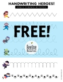 *FREE* Handwriting Heroes Pencil Control Activities