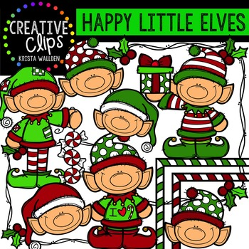 Happy Little Elves {Creative Clips Digital Clipart}