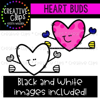 {FREE} Heart Buds Clipart {Creative Clips Clipart}