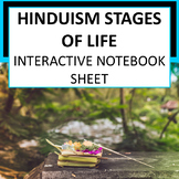 Hinduism Stages of Life Interactive Notebook Page