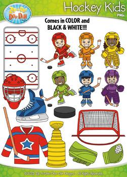 FREE Hockey Kid Characters Clipart {Zip-A-Dee-Doo-Dah Designs}