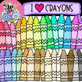 {FREE} I Love Crayons: School Clipart {DobiBee Designs}