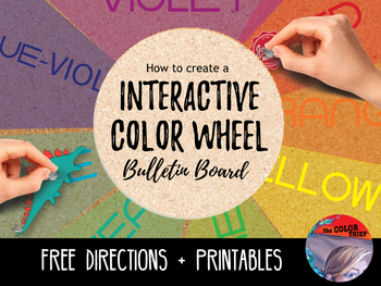 [FREE] Interactive Color Wheel Bulletin Board