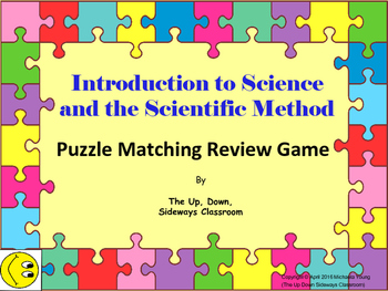 (FREE) Intro to Science and Scientific Method Puzzle Matching Review Game