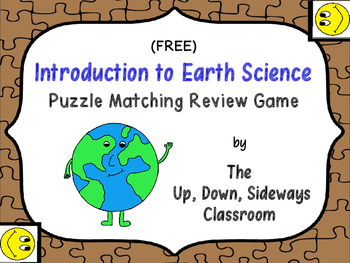 (FREE) Introduction to Earth Science Puzzle Matching Review Game