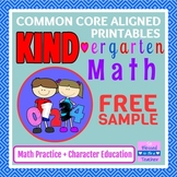 {FREE!} KIND-ergarten Math Free Sample - Printable Common Core Math Kindergarten