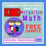 {FREE!} KIND-ergarten Math Free Sample - Printable Common