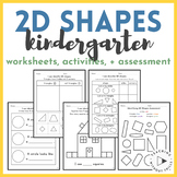 |FREE| Kindergarten 2D Shapes Inquiry-Based Lesson Plan and Worksheet
