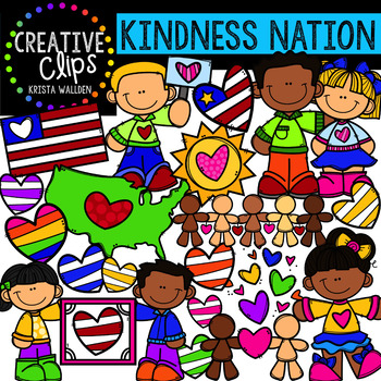{FREE} Kindness Nation #kindnessnation Clipart {Creative Clips Clipart}