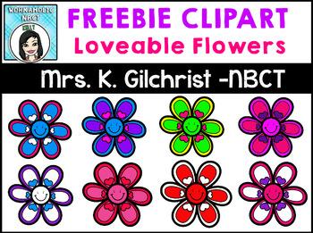 (FREE) LOVEable Flowers Clip Art Set