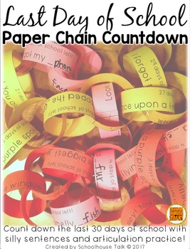 {FREE} Last Day of School Paper Chain Countdown