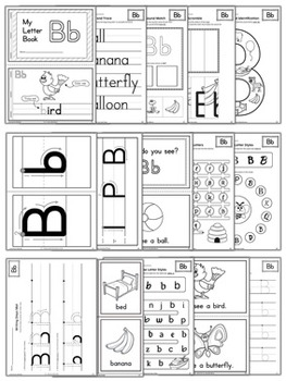 {FREE} Learning the Alphabet Letter B Workbook in BW