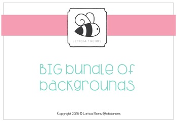 { FREE } Letty's Class Blog Big Bundle Backgrounds