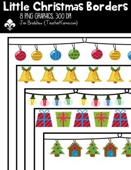 {FREE} Little Christmas Borders Clipart ~ Commercial Use OK ~ Frames