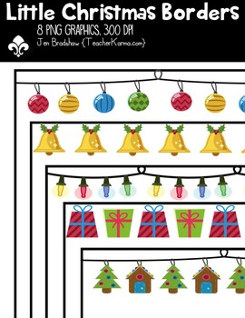 {FREE} Little Christmas Borders Clipart ~ Commercial Use O