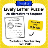 *FREE* Lively Letter Puzzle- An Alternative Hangman Game