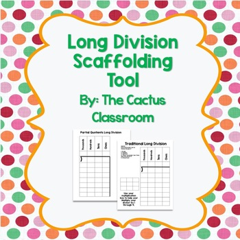 *FREE* Long Division Helper Template