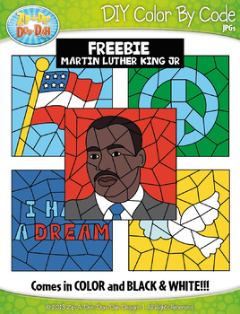 FREE MARTIN LUTHER KING JR Color By Code Clipart {Zip-A-Dee-Doo-Dah Designs}