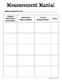 *FREE* Measurement Mania! / Nonstandard Measurement Activity
