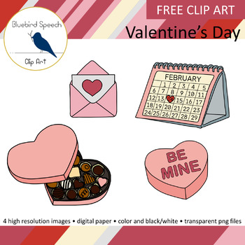 *FREE*Valentine's Day Clip Art Set - Digital Paper Included