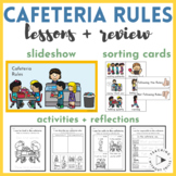 Cafeteria Rules Slideshow, Sort, Activities, Worksheets, Posters for K-2 PBIS