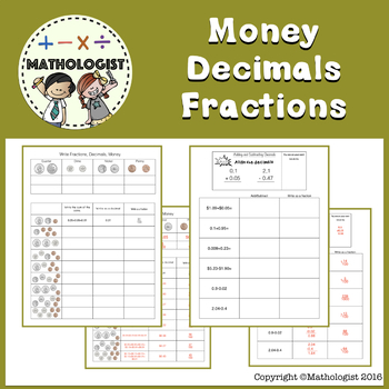 *FREE* Money, Decimals, Fractions