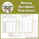 FREE Money, Decimals, Fractions