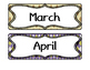 [FREE] Month labels with argyle print   Classroom decoration  