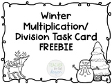 *FREE Multiplication/Division Winter Task Cards
