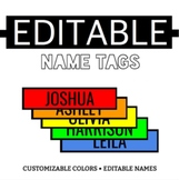 *FREE* Name Tags - RAINBOW Edition - Great for Bulletin Boards