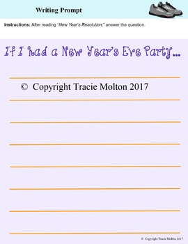 *FREE* New Year's Themed Original Story and Worksheets