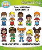 Notepad Kid Characters Clipart {Zip-A-Dee-Doo-Dah Designs}