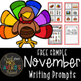 November Writing Prompts and Word Work