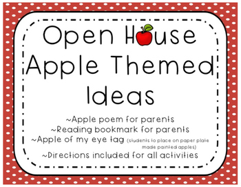 (FREE) Open House Apple Themed Ideas