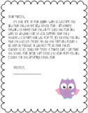 (FREE) Open House Letter to Parents & Student Information Sheet--EDITABLE!!!