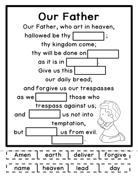 photo regarding Prayer Printable called No cost! Our Dad / Lords Prayer Printable Reduce and Paste Match