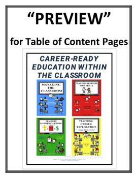 """""""FREE PREVIEW"""" for Table of Content Pages (Mega Bundle Curriculum Guides)"""