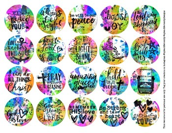 [FREE] PRINTABLE Neon Bible Journal Circles