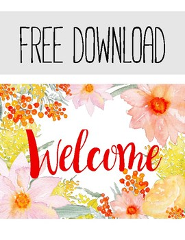 **FREE PRODUCT** Welcome Sign
