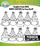 FREE Party Hat Blank Face Characters Clipart {Zip-A-Dee-Do