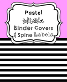 (FREE) Pastel Editable Binder Covers and Spines