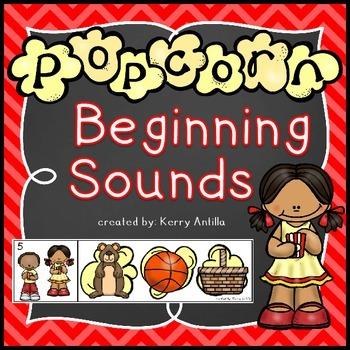 *FREE* Popcorn Beginning Sounds Literacy Center