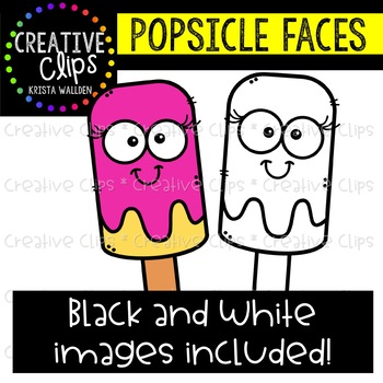{FREE} Popsicle Faces {Creative Clips Clipart}